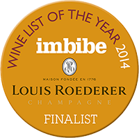 Wine list of the year 2014 - Finalist